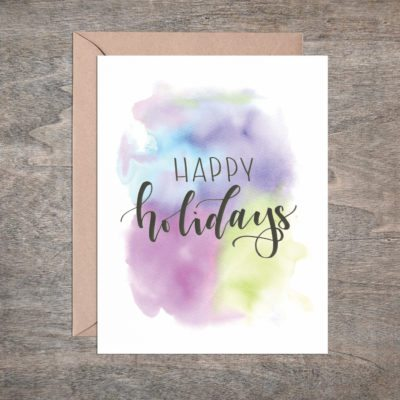 Drama-free Holiday Card