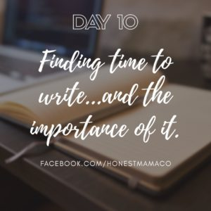 30 Days of Facebook Live // The Importance of Finding Time to Write