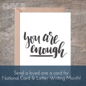 30 Days of Facebook Live // National Card and Letter Writing Month