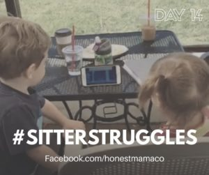 30 Days of Facebook Live // Sitter Struggles