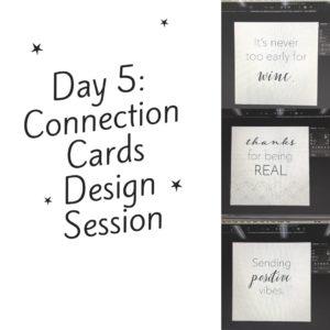 30 Days of Facebook Live // Connection Cards Design Session