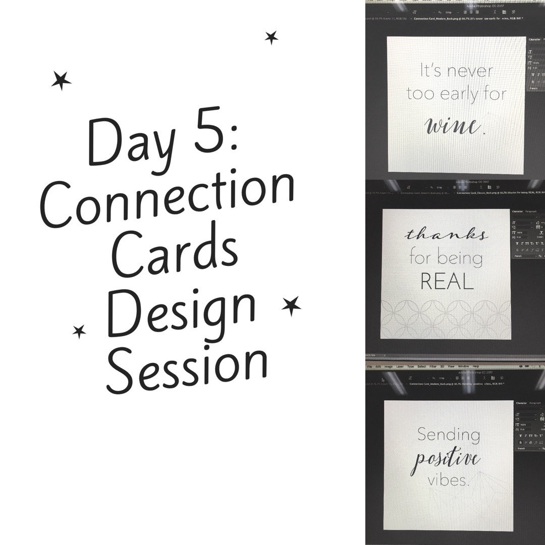 30 Days of Facebook Live // Connection Cards Design Session