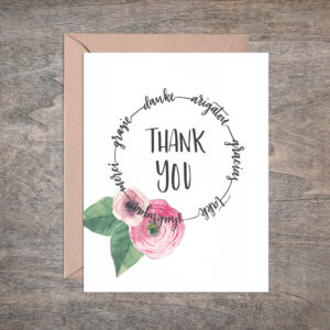 Multilingual Thank You Card – Box of 8