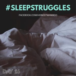 30 Days of Facebook Live // Sleep Struggles