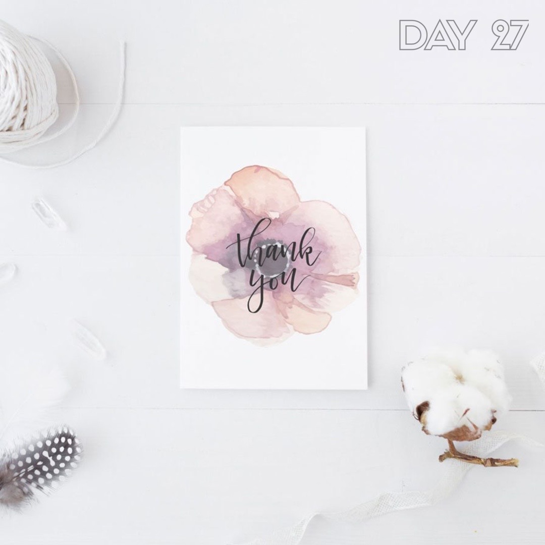 30 Days of Facebook Live // Simple Thank You Card